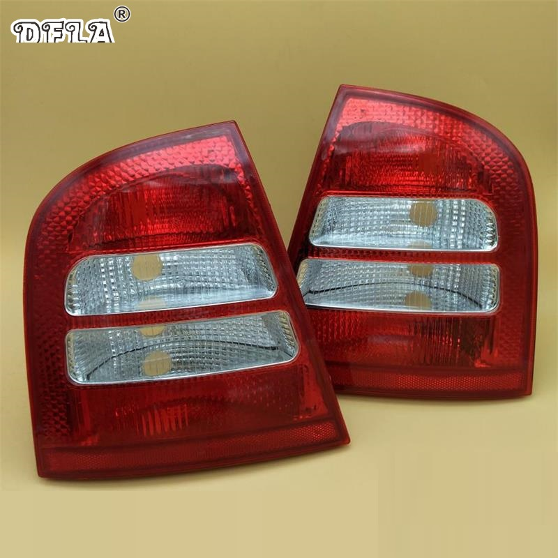 2pcs For Skoda Octavia A4 MK1 Sedan 2000 2001 2002 2003 2004 2005 2006 2007 2008 2009 2010 2011 Rear Tail Light Lamp jeazea glove box light storage compartment lamp 1j0947301 1j0 947 301 for vw jetta golf bora octavia 2000 2001 2002 2003 2004