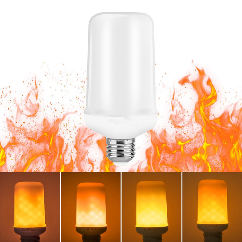 Led Flame Light Bulbs E26 Standard Base Flickering Fire