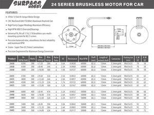 Image 5 - Водонепроницаемый бесщеточный двигатель 2445 2,3 мм 1/16 кв для Traxxas HSP гоночного автомобиля для дрифта и скалолазания