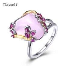 Модное женское кольцо 2021 нестандартные розовые милые цветочные