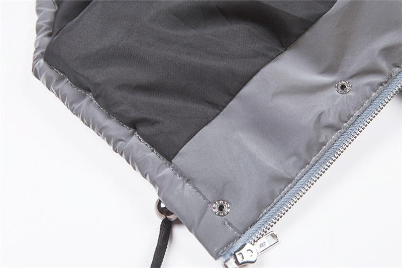 Dulzura flash reflective women padded jacket short tops warm 18 autumn winter solid zipper oversize loose outwear coats casual 29