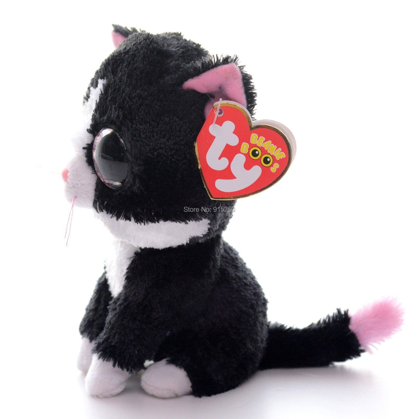 Cute 5 Original Ty Pepper Black Cat Plush Toys Stuffed Animals