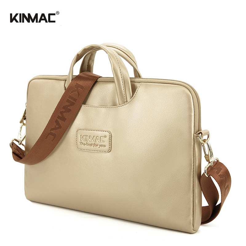 Kinmac 13 14 15.6 inch Leather Laptop bag Handbag Shoulder Briefcase Computer Notebook Macbook Air Pro - Factory store