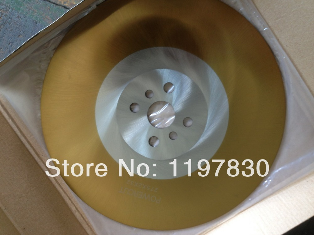 цена на Free shipping DM05/M2 hss saw blades for Steel pipes cutting professional TIN coating 300*32*2.5mm BW teeth profile