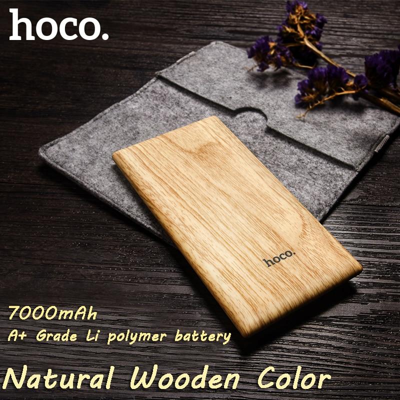 bilder für HOCO B10 7000 mAh ultradünne Energienbank natur holz farbe led-anzeige für handy, tablet PC tragbare für freien/reise