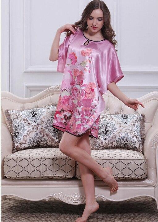 Aliexpress.com : Buy 2015 Women silk satin nightgown plus size ...
