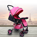 2017 New Arrival Portable Baby Stroller Aluminum alloy Super Light Baby Car Folding Easy Shockproof Prams for Newborns C01