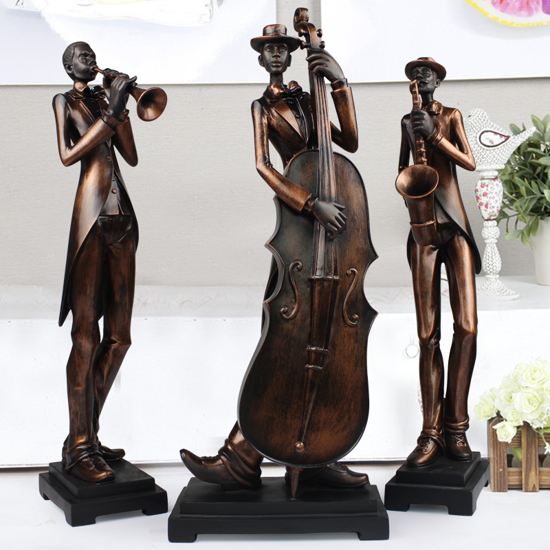 Characters sculpture art decoration luxury living room furnishings statue home decor music simple modern ornament 3pcs/set