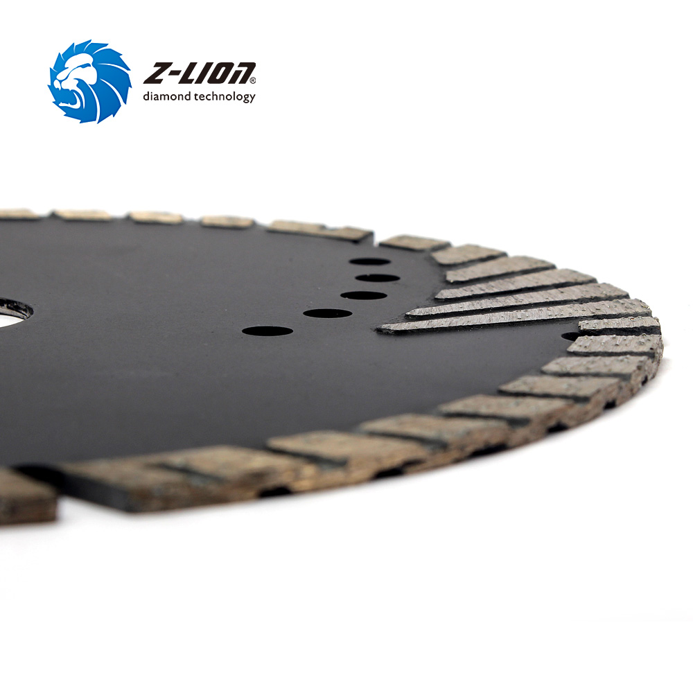 "Image 4 - Z LION 6"" 150mm Diamond Saw Blade With Slant Protection Teeth for Stone Granite Marble Concrete Diamond Cutting Disc-in Saw Blades from Tools"