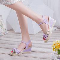 2016 Female Sandals High Platform Wedges Platform Open Toe Platform Casual Shoes BAOK 2e7c