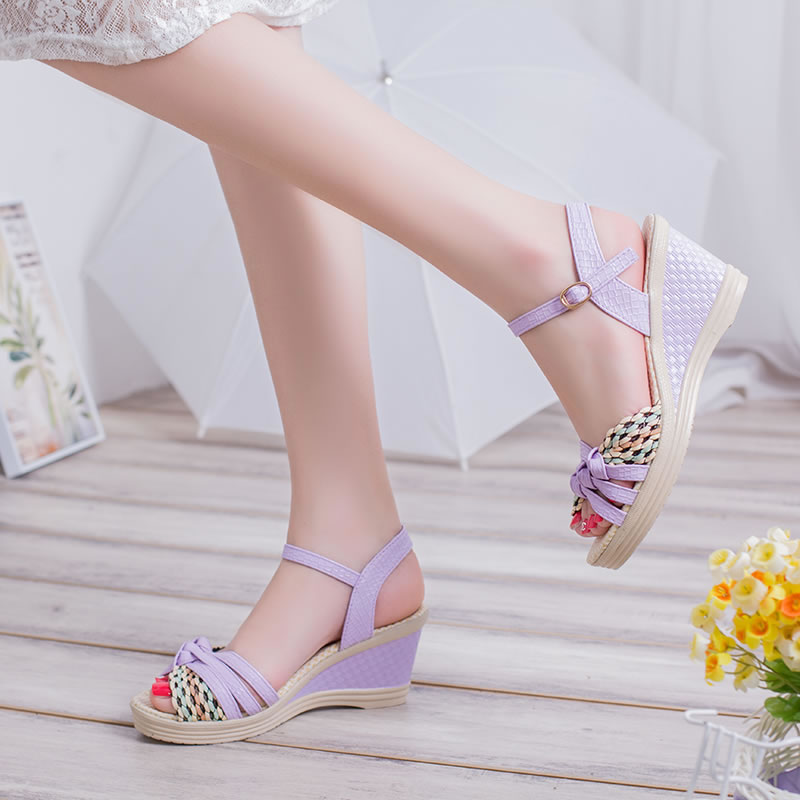 New Female Sandals High Heels Shoes Platform Wedges Women Pumps Open Toe Casual Shoes For Woman  BAOK-2e7c free shipping fashion 2017 new summer wedges platform sandals women black and white open toe high heels female shoes z596