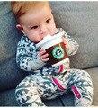 Ropa de bebé de dibujos animados niño recién nacido mamelucos de roupas de bebe niños embroma la ropa de los muchachos del mameluco del niño infantil prendas de vestir exteriores