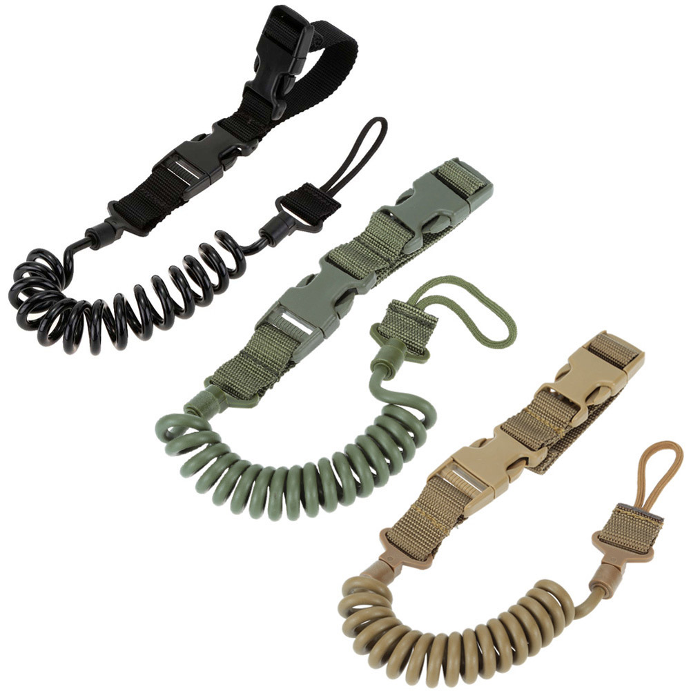 Outdoor Equipment Elastic Anti-lost Tactical Stretching Rope Key Hanging Retractable Buckle String FK88