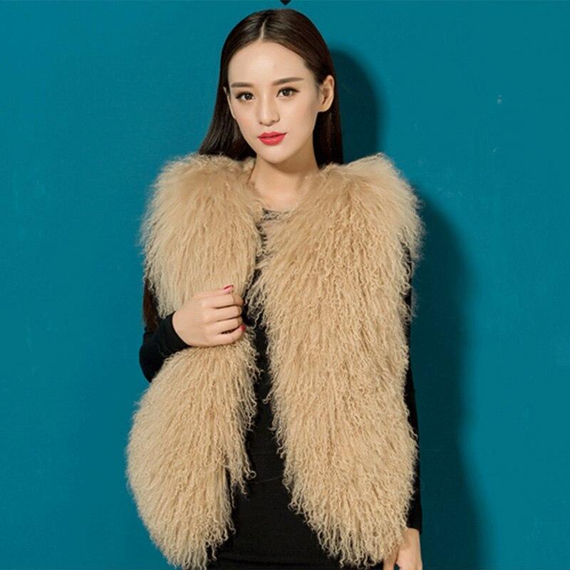 La Peau Toute Thermique Livraison New Vêtements blanc 100 kaki D'hiver rose Argent Mongolie Gratuite Supérieure Gilet 2015 Fourrure Be1516 De noir rouge Réel Femmes vPWqx77zpw