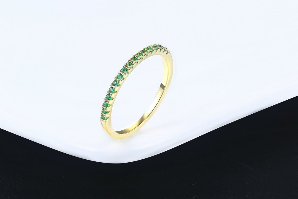 Wedding Ring For Women Man Concise Classical Multicolor Mini Cubic Zirconia Rose Gold Color Fashion Jewelry R132 R133 ZHOUYANG 21