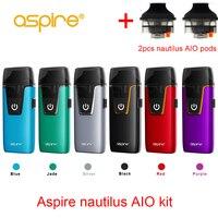 In stock!! Aspire Nautilus AIO kit 1000mAh battery 4.6ml capacity pod vape kit use 1.8ohm Nautilus NS BVC coils vs breeze 2 kit