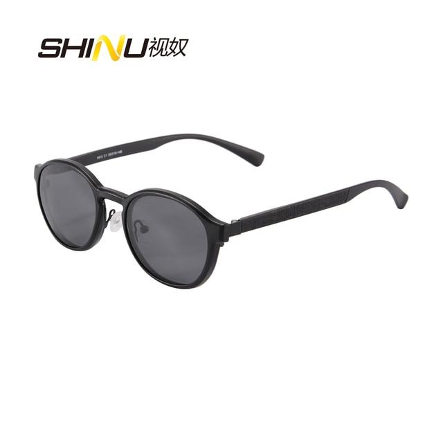 SHINU Урожай круглый близорукость оптические frame с поляризованные солнцезащитные линзы для мужчин и женщин магнит клип на солнцезащитные очки 9912