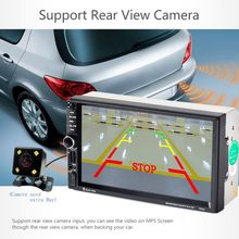 "7"" Univeral 7020G Car DVD Video Player 12V Touch Screen GPS Navigation With Remote Control Rearview Camera 2028(China)"