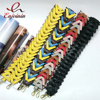 Fashion Hit Color Knit Handbags Belts Women Bags Strap Women Bag Accessory Bags Parts PU Leather