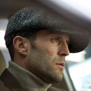 de7de97dd3 Winter New England Jason Statham Men s Casual Wool Blend Cap Octagonal  Newsboy Shellfish Hat