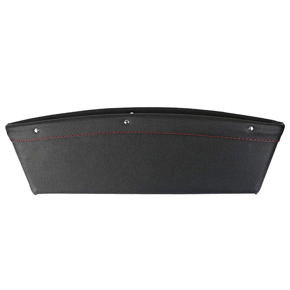 Vehemo автомобильное сиденье зазор автомобильный ящик для хранения открытка-коробка слот для монет Чехол для автомобильного сиденья зазор Карманный ящик для хранения Высокая емкость Авто - Название цвета: Black