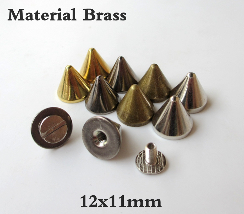 Brass Ball post with O ring screwback stud rivet Head button post /& O ring 9x6.5