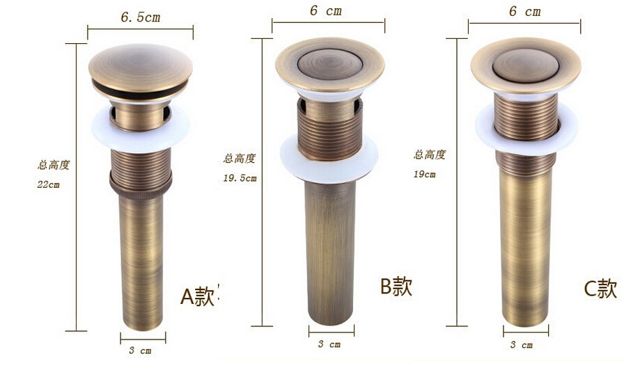 High Quality Solid Anti Bronze Brass Bathroom Lavatory