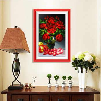 Meian, รูปพิเศษ, เย็บปักถักร้อยเพชร, ดอกไม้, Ross, 5D, ภาพวาดเพชร Cross Stitch, 3D, เพชรโมเสคตกแต่งคริสต์มาส