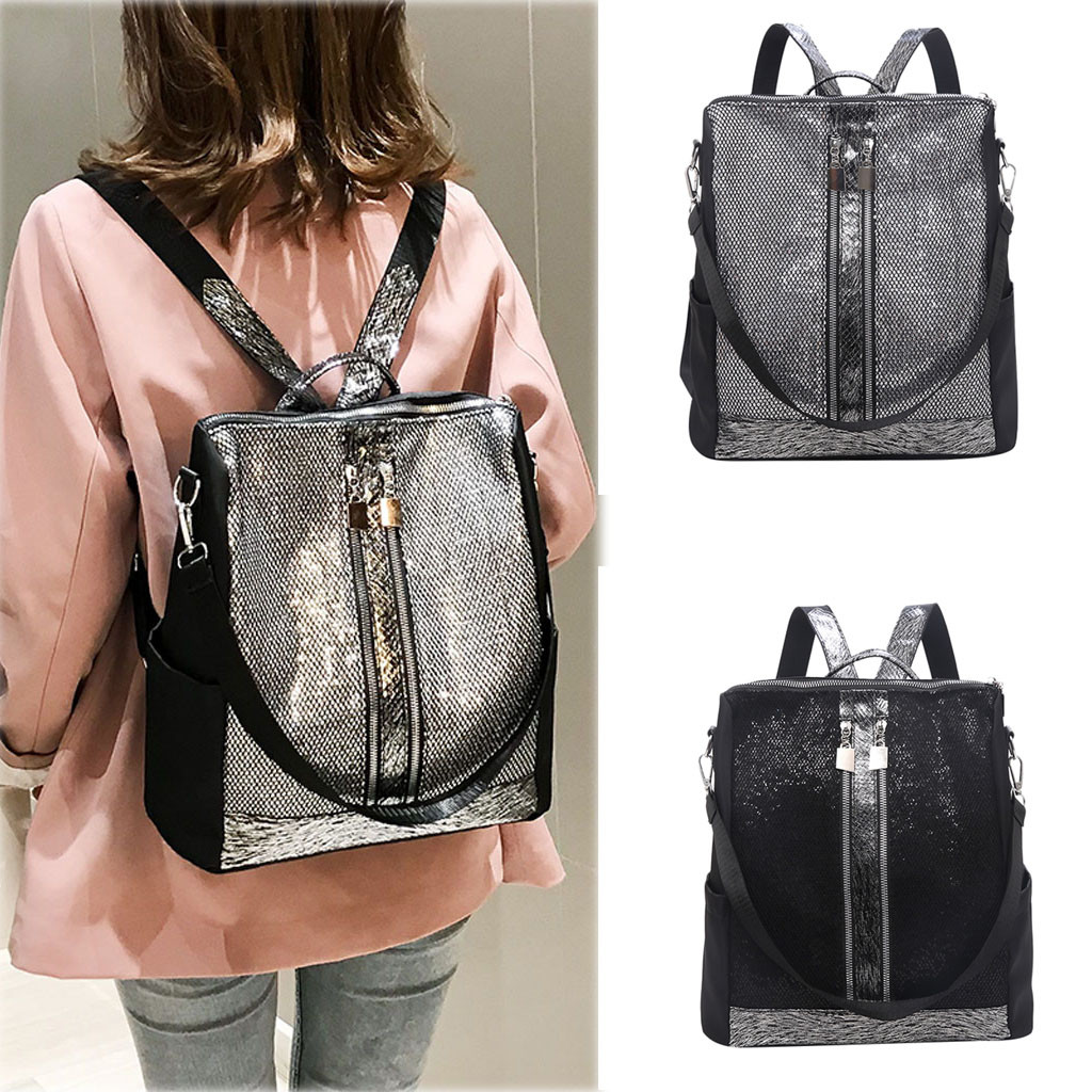 Women's Fashion Shoulder Bag Large Capacity Sequins Casual Multi-function Bag Mochilas Mujer 2019 Mochila Feminina Backpack