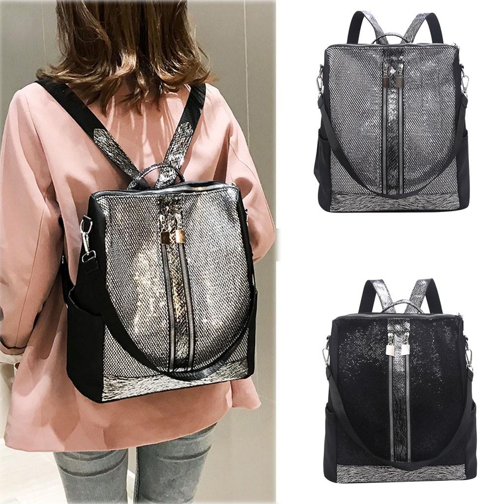Women's Fashion Shoulder Bag Large Capacity Sequins Casual Multi-function Bag Mochilas Mujer 2019 Mochila Feminina Backpack