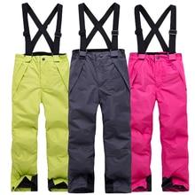 Детские зимние теплые дышащие водонепроницаемые ветрозащитные штаны для сноуборда; Pantalones; для сноуборда; Hombre; яркие цвета; уличные лыжные штаны
