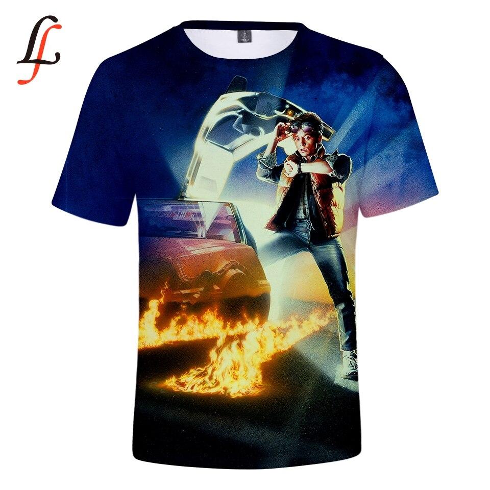 Modis Back to the Future camiseta 3D impressão Marty e Sua Fusão Powered Carro Do Futuro estilo hip hop tshirt streetwear topos de verão