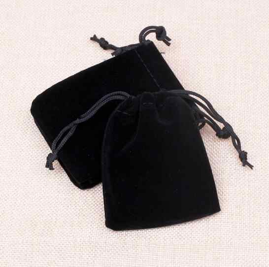 1 Uds 5x7 7x9 10x12 12x16cm de terciopelo bolsa con cierre de cordón de bolsa de regalo de Navidad bolsa de regalo de boda de joyería