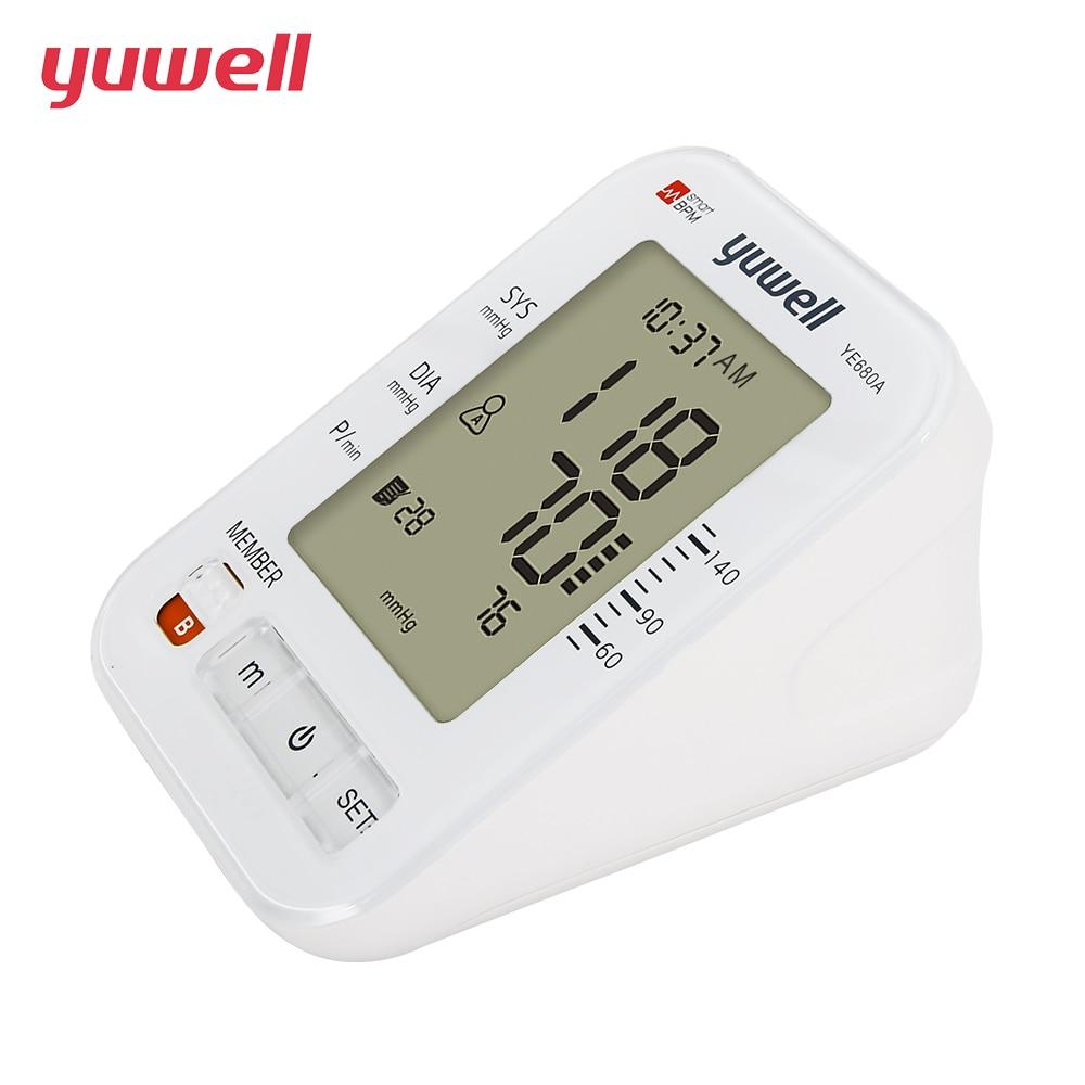 yuwell Upper Arm Blood Pressure Monitor Double memory Intelligent Pressurized Sphygmomanometer Heartbeats Medical Equipment CE
