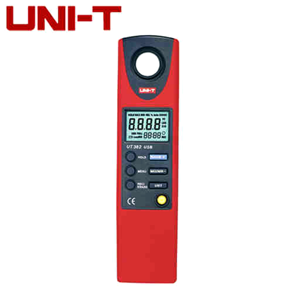 UNI-T UT382 LCD Display Digital Lux Meter Light Meter Luxmeter Tester Illuminometer Photometer 20-20000 Lux Lumen USB Transfer free shipping uni t c handeld lcd luminometer illuminometer lux meter tester