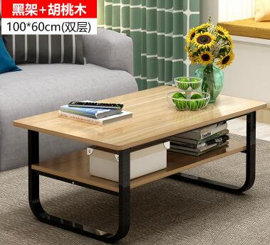 10060CM Modern Wood Laptop Table Double Layer Multifunction Bedside Living Room Tea
