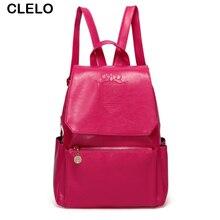 Clelo модные женские туфли рюкзак Водонепроницаемый PU Школьные ранцы для подростков девочек топ-ручка рюкзак женщины школа плеча Сумки