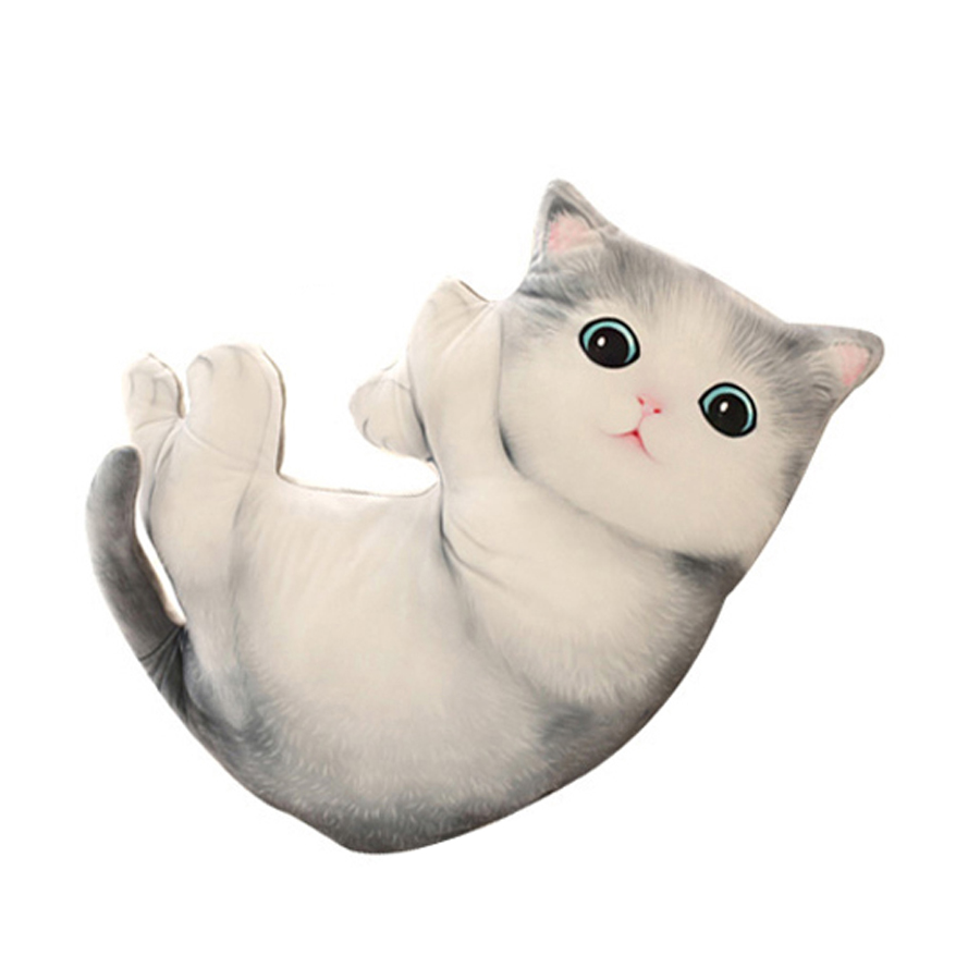 Cute Cat Stuffed Animals Plush Toys Pillow Kawaii Plush Oyuncak Bebek Soft Toy Simulation Jouet Enfant Dolls For Girls 60G0661 cute 45cm stuffed soft plush penguin toys stuffed animals doll soft sleep pillow cushion for gift birthady party gift baby toy