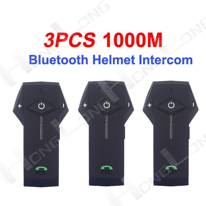 ФОТО 3 COLORS!  (Pack of 3) Motorcycle Bluetooth Helmet Headsets Interphone Motorbike Intercom Headset NFC Work with Iphone5&Samsung