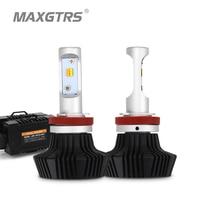 2x Dual Color Car Leds H4 H7 H8 H11 9005 9006 Bulb 3000k Fog Lights 6500k Auto Led Light Car Driving 40w 8000lm HeadLight Bulbs