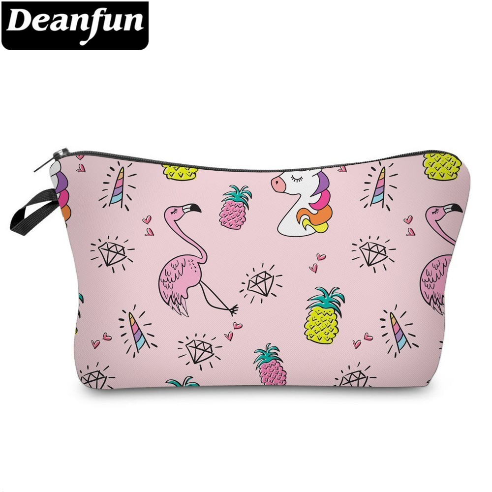 Deanfun Unicorn Cosmetic Bag Waterproof Printing Likable Flamingo Make Up Bags Custom Style For Travel  51482