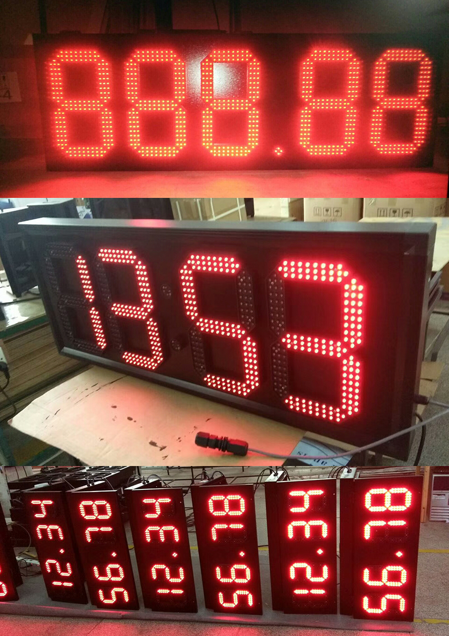 """Image 3 - 4pcs/lot 15"""" Red Color Outdoor 7 Seven Segment LED Digital Number Module for Gas Price LED Display module-in LED Displays from Electronic Components & Supplies"""