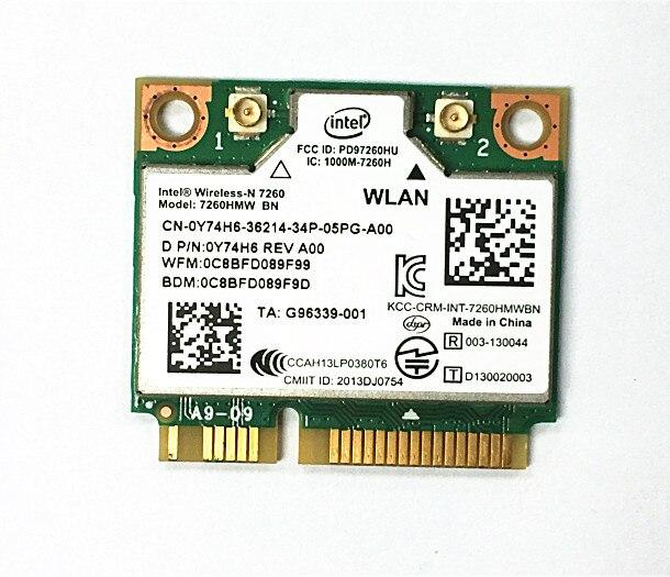 SSEA NEW For Intel Wireless-N 7260 7260HMW BN Wifi Bluetooth 4.0 Hlaf Mini PCI-Ecard 802.11N For DELL/ASUS /ACER/samsung