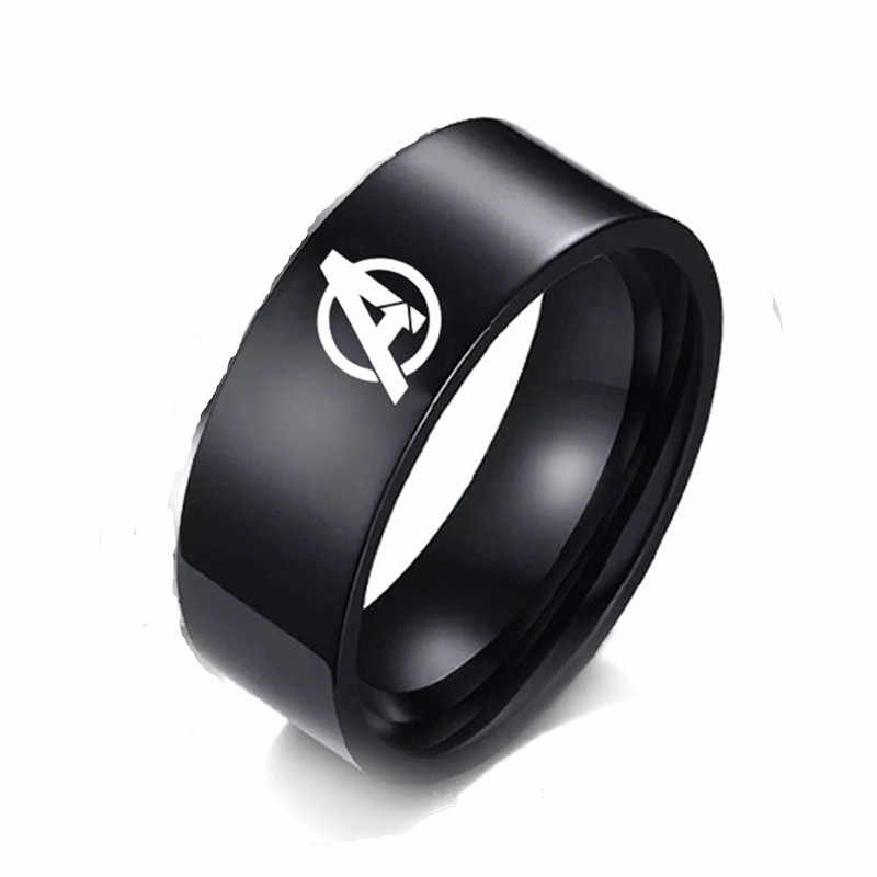fashion Marvel Avengers ring Anime related symbols finger ring trendy simple Titanium metal jewelry cute fashion gifts