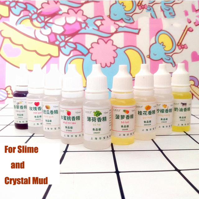 10ML Slime Edible Flavor DIY Toys for Children Modeling Clay Smell Sweet Pineapple Strawberry Flavors Slime Material Kids Gift