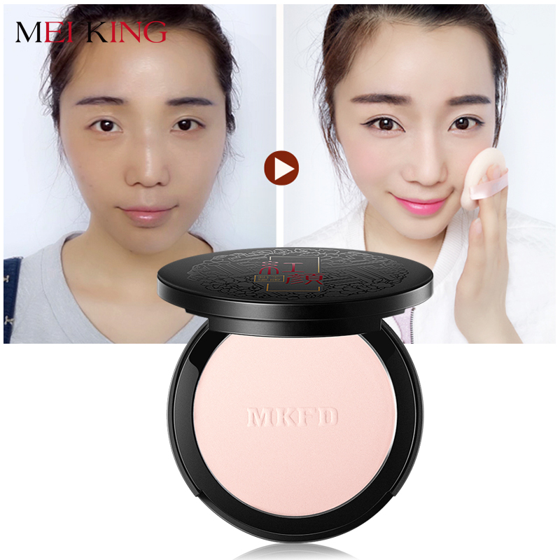 MIKKNING Naturlig fixpulver Oljekontroll Hållande ansikte Finishing Whitening Makeup Brighten Foundation Rose Plant Powder Concealer