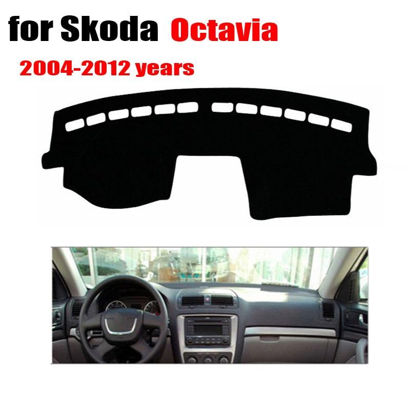 FUWAYDA car dash <font><b>covers</b></font> For Skoda Octavia 2004 to 2012 car dashboard stickers Left hand drive dashmat pad dash <font><b>covers</b></font>