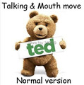 Talking Ted Bear Mouth move Thunder Song & 12 Phrases movie sound function 40 cm plush doll Toy