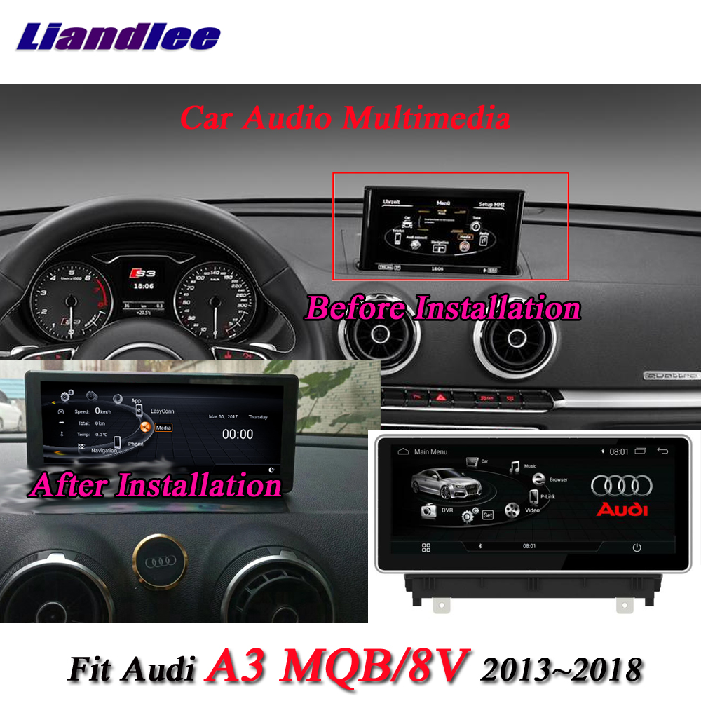 US $510 0 25% OFF|Liandlee Car Android System For Audi A3 8V 2013~2018 With  AUX Radio TV BT CD DVD Player GPS Navi Navigation BT Screen Multimedia-in
