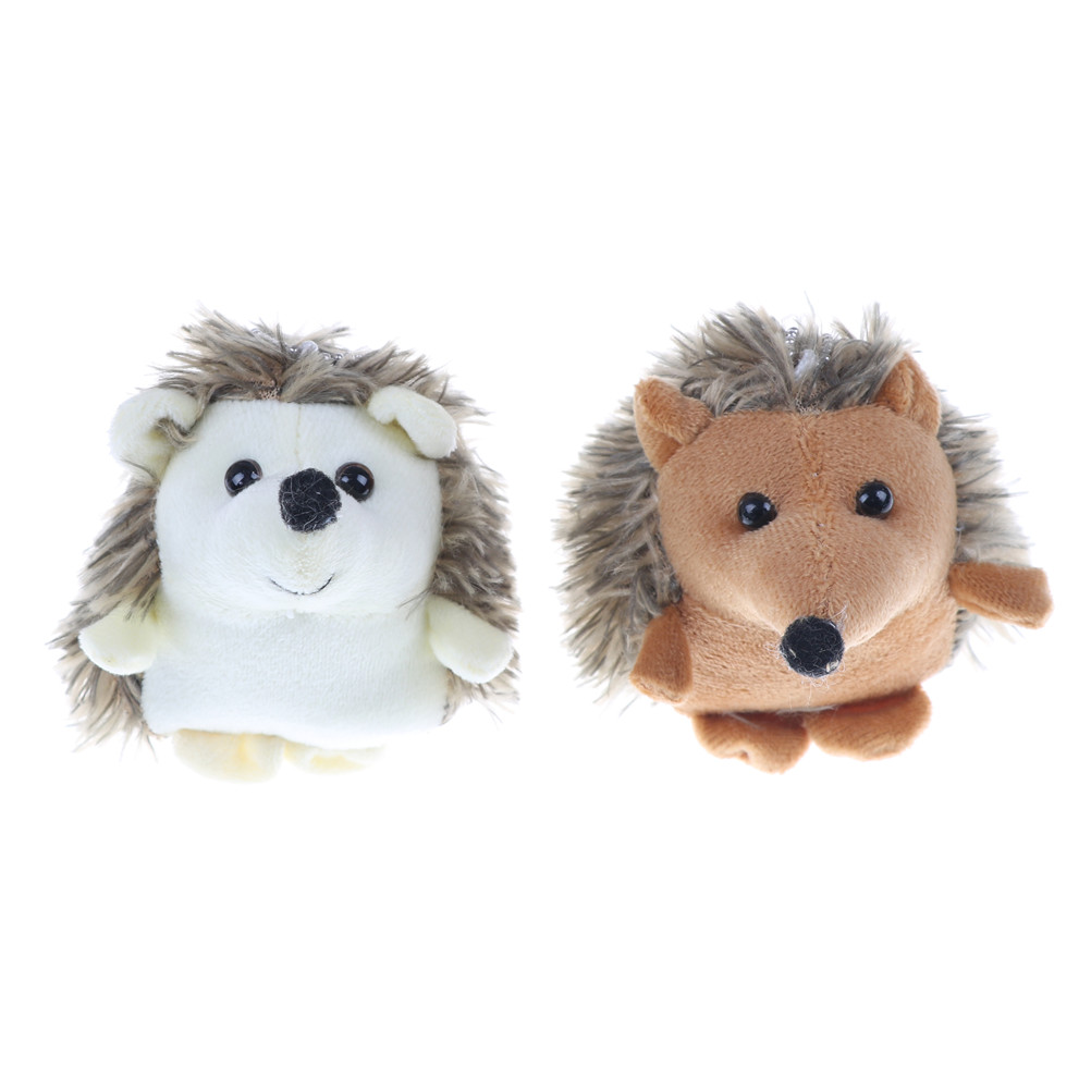 1Pc Cute Lovely Plush Hedgehog Toys Animal Plush Stuffed Toys Doll ; Key Chain Ring Pendant Plush TOY Baby Girl Kids Lover Gift